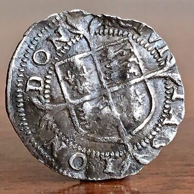 Elizabeth I, 1558-1603. Hammered Silver Penny. Tiny Coin.
