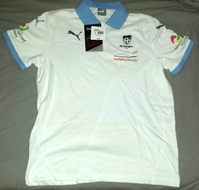 SYDNEY FC 2015/2016 OFFICIAL A-LEAGUE MEDIA POLO (WHITE). - BNWT! Size: LARGE