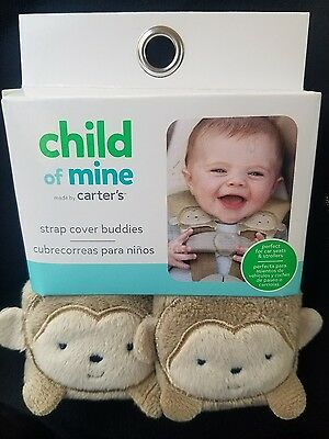Carters Strap Cover Set Monkey