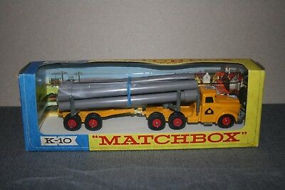 Matchbox King Size Scammell  Pipe Truck K-10 (No Header Card on Box)