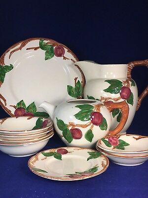 AS IS LOT OF PCS FRANCISCAN APPLE VINTAGE set BEAUTIFUL 1950'S.CHIPS
