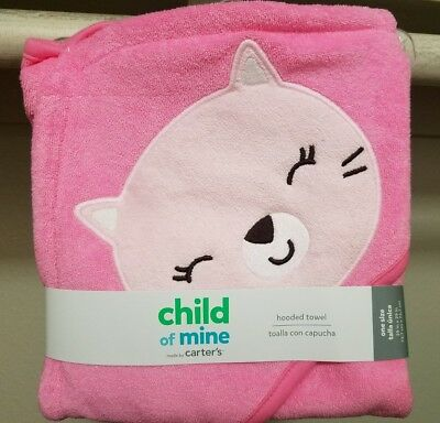 Carters Child of Mine Pink Hooded Towel