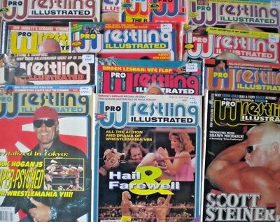 Pro Wrestling Illustrated Magazine - Various Issues - Bagged & Boarded