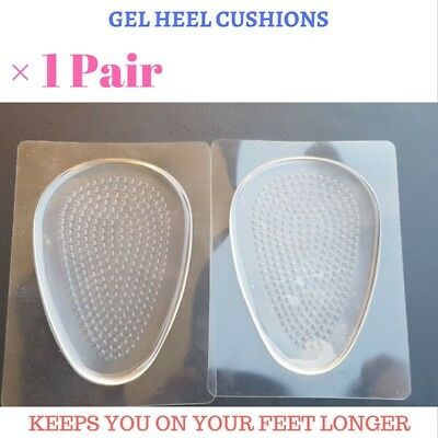 1 Pair New Gel Heel Cushions - self adhesive - non slip - absorption - footcare