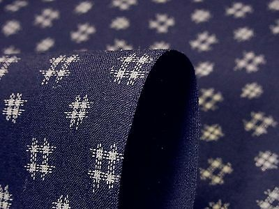Japanese Fabric_Cotton_Navy,Kasuri_Half Yard,#m031