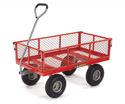 Gorilla Carts Steel Utility Cart with Removable Sides with a Capacity of 800 lb,
