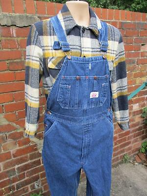 W30 - Vintage 90s Mens Roundhouse Bib Brace Overalls Dungarees USA Workwear L686