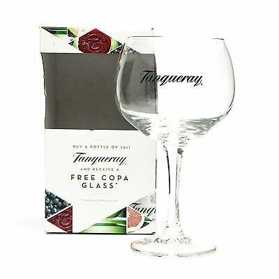 Tanqueray Copa Goblet Glass Gin Cocktail Wine Boxed New Balloon Gift Present
