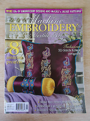 Machine Embroidery & Textile Art Vol 13 #7~Shisha~Quilt~Baby Blocks~Jacket~Lamp