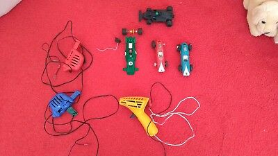 Scalextric Triang slot racing cars, controllers bundle. Lotus F1 Porsche BRM