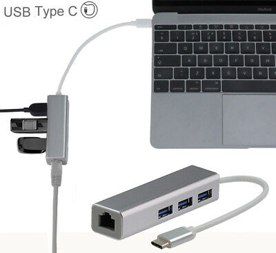 Broonel USB Type C Ethernet / Lan Adapter For Macbook Pro 13 with T CTL-AC NUEVO
