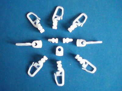 AUTO SLEEPER   CURTAIN HOOKS / GLIDERS ,  HOOK No 17 .  PACKS OF 50  FITS MANY
