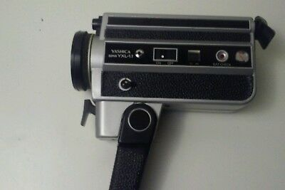 Yashica Super 8 mm. YXL-1.1 Film Camera Black Silver With Lenses Cover