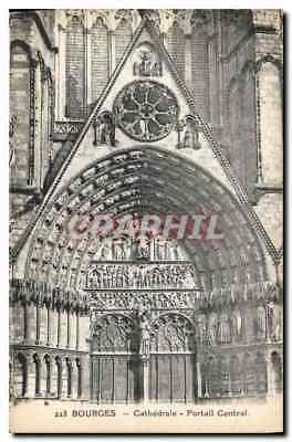 CPA Bourges Cathedrale Portail Central