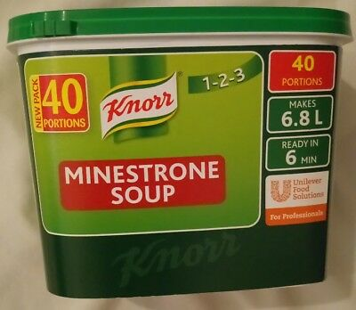 KNORR CLASSIC MINESTRONE SOUP  40 PORTIONS MAKES 6.8Lt BEST BEFORE END 08/2017
