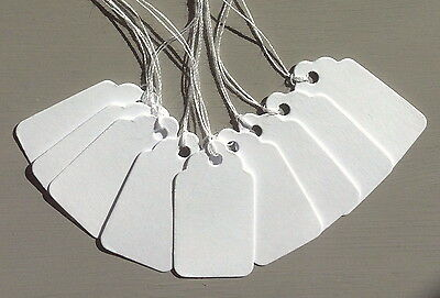White Scallop Price Tags - 50 & 100 Tag Packs