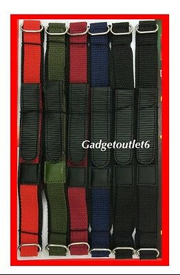 Velcro Watch Strap 18M Gents Quality Action Sports  Band Mens Different Colours