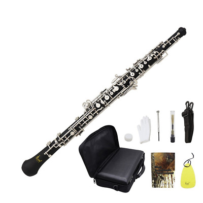 ammoon Oboe C Key Cupronickel Plated Silver Woodwind Musical Instrument for Begi