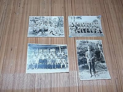 Japanese Ww2 Army Lot Of Four Photos