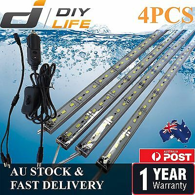 4X12V Waterproof Cool White 5630 Camping Led Strip Lights Bars Caravan Boat Cig