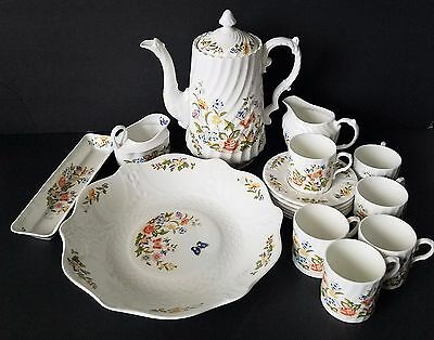 Cottage Garden By  Aynsley 17 PC Coffee  Set  England