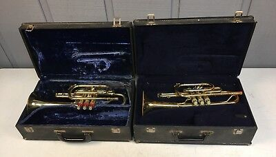LOT OF 2 Cornets-ONE BACH MODEL CR200 , ONE MAJESTIC POSSIBLY A CONN STENCIL