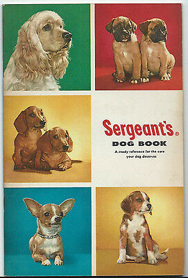 Vtg Sergeant's Dog Book Reference For The Care Your Dog Deserves Advertisements