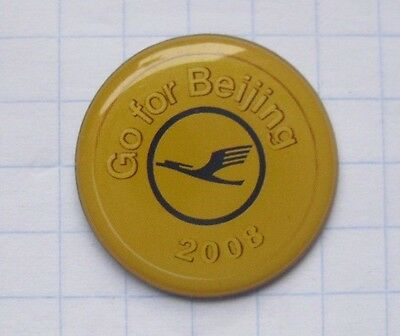 LUFTHANSA / GO FOR BEIJING / OLYMPIA 2008 ........... Airlines-Pin (123a)