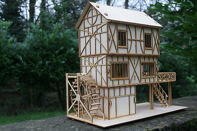 Laser cut ply wood wooden Mill 3d puzzle / Kit