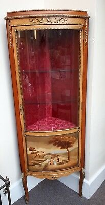 Elegant H & L Epstein French Style Bow Front Corner Display Cabinet Excellent