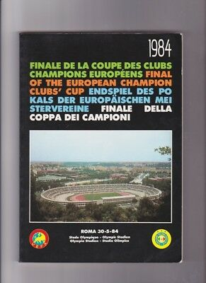 1984 European Cup Final Liverpool v Roma OFFICIAL BLACK UEFA ISSUE