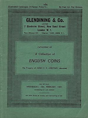 Glendining 10/2/1965 English Coins J F H Ceckley in good condition