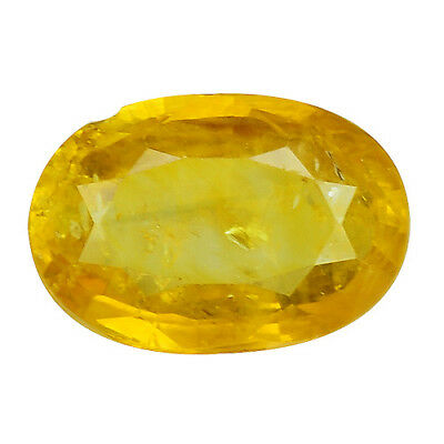 1.290 Cts Marvelous Yellow Natural Sapphire Oval Loose Gemstones See Video
