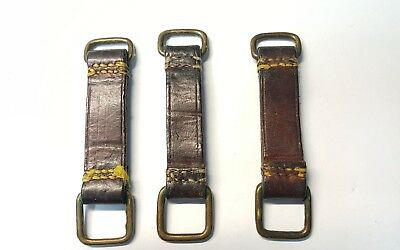 Three (3) WWI Canadian Oliver Pattern belt loops