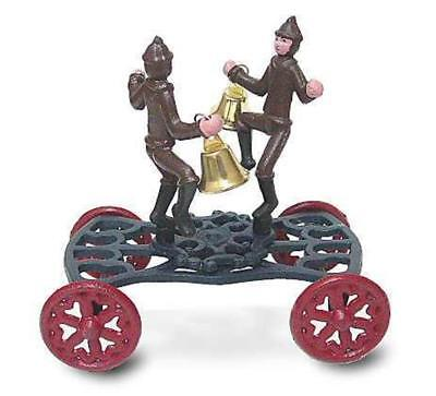 Victorian Firemen Bell Ringers Pull Toy