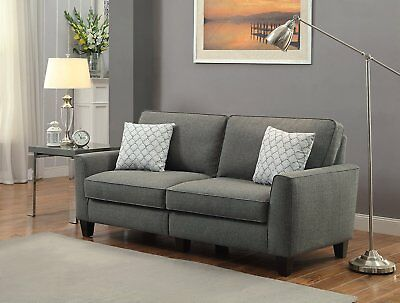 Serta at Home; Everett Collection: 78-Inch Fabric Sofa in Alexandria Grey