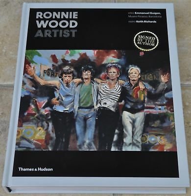 Ronnie Wood Signed Artist Hardbsack Book The Rolling Stones