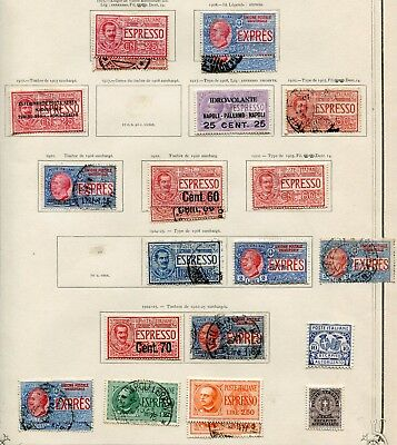 ITALY  - Small collection BOB MH/Cancelled