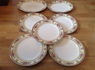 Losol Ware ( Keeling & Co Ltd. 5 Dinner Plates 25cm & 2 Serving Platters