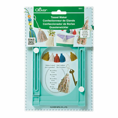 CLOVER LARGE TASSEL MAKER - CREATES 5 SIZE TASSELS in EMBROIDERY OR YARN BNEW