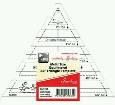 Sew Easy 60 Degree Equilateral Triangle Patchwork,quilting,crafting Bunting Bnew