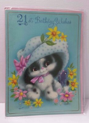21st Vintage Large Birthday Card Sharpe's Classic Cards Made in England Unused