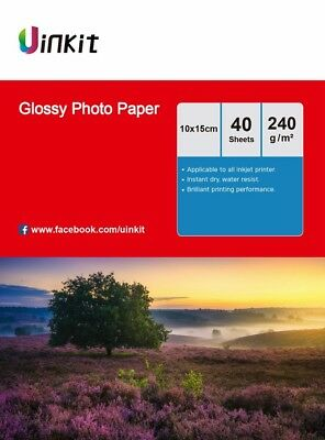 4x6 Glossy Inkjet Photo Paper 102x152mm 4x6 230 240Gsm - 160 Sheets Uinkit