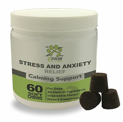 Stress and Anxiety Relief Calming Support for Dogs by ZPAW Vet Line | Natural