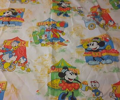 Vintage Mickey Mouse Disney Circus Sheets Twin Carnival Complete Set