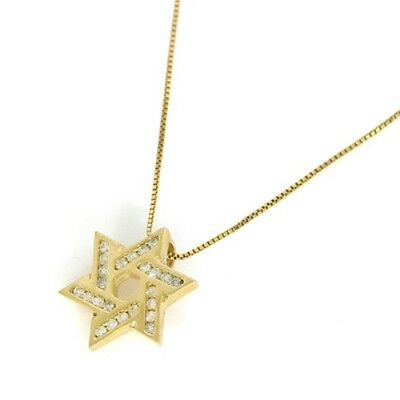 14k Star of David yellow gold H/SI TCW 0.25ct on 14k gold chain