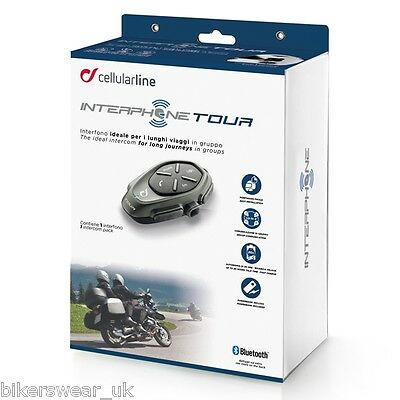 Interphone Touring Single Pack smart Bluetooth,quality music & GPS Directions