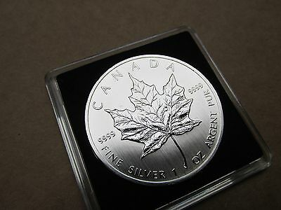 2011 1 OZ Silver Maple 5 Dollar Coin. Mint Cased .9999 silver