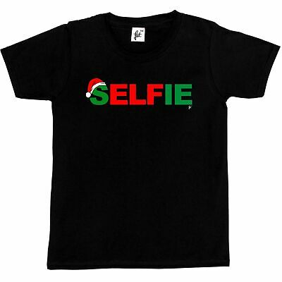Selfie Elf Santa Hat Christmas Xmas Kids Boys / Girls T-Shirt