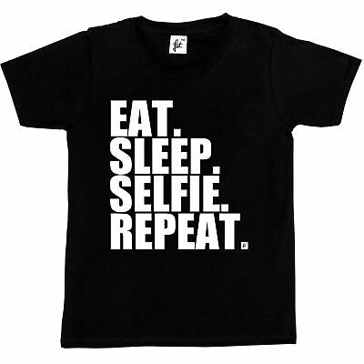 Eat. Sleep. Selfie. Repeat. Kids Boys / Girls T-Shirt